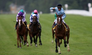 Harbinger winning the Group 1 King George VI & Queen Elizabeth Stakes